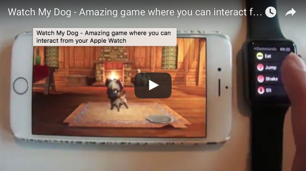 A game where you can interact from an Apple Watch